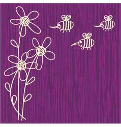 Bee sketch background vector
