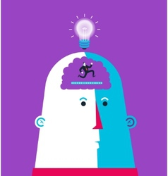 Born idea in ti head head shaking hands vector