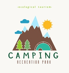 Camping Recreation Park Simple Label vector image vector image