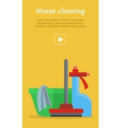 Cleaning Service Flat Style Web Banner vector image vector image