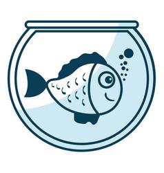 cute ornamental fish in aquarium vector image