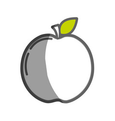 Delicious apple fruit taste icon vector