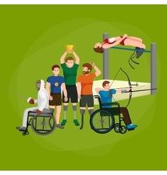 Disable handicap sport games stick figure vector