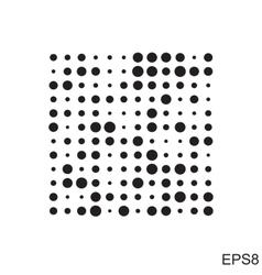 Dots square icon vector