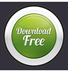 Download free button green round sticker vector