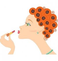 girl lipstick vector image vector image