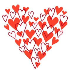 hand drawn heart vector image vector image