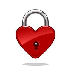 Heartshaped Lock vector image vector image