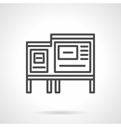 Information ad board black line icon vector image