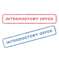 introductory offer textile stamps vector image vector image