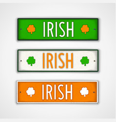 Irish lettering design vector