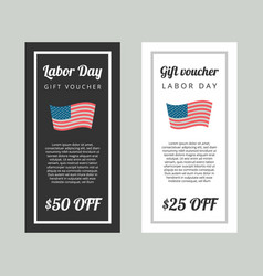 Labor day gift voucher vector