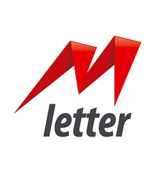 Logo the letter m in the form of lightning vector