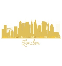 London city skyline golden silhouette vector