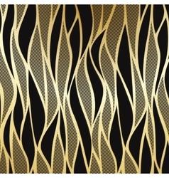 Luxury golden floral wallpaper vector image vector image