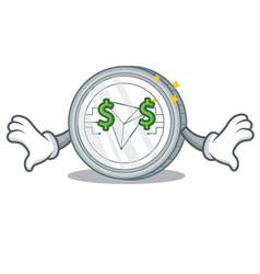 Money eye tron coin character cartoon vector