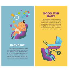 motherhood baby care newborn child posters vector image vector image