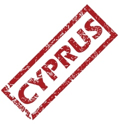 New cyprus rubber stamp vector