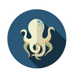 Octopus icon summer vacation vector