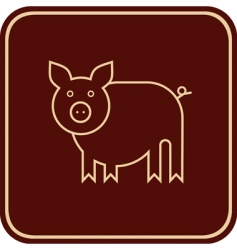 Pig sign vector