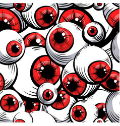 red eyes vector image