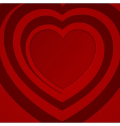 Red spiral heart - vector image vector image