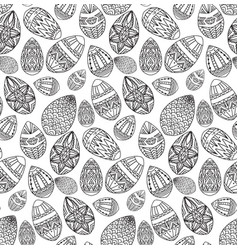 seamless black and white texture with contour vector image vector image