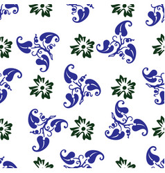 seamless pattern with ornamental flowers vector image vector image