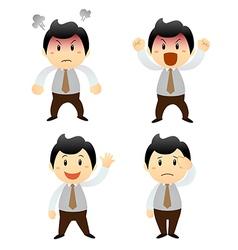 set cartoon business man vector image