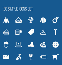 Set of 20 editable shopping icons includes vector