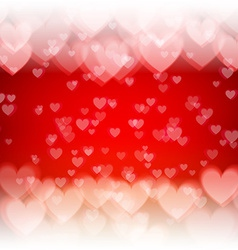 St Valentines Day abstract background with hearts vector image