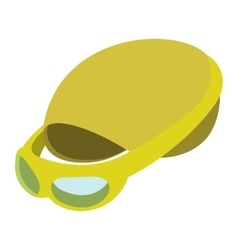 Swimming cap and goggles vector image