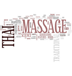 Thai massage text background word cloud concept vector