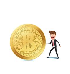 virtual business digital crypto mining bitcoins vector image