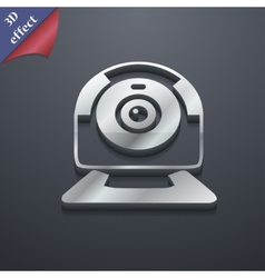 Webcam icon symbol 3d style trendy modern design vector