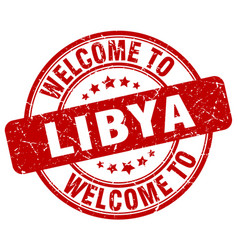 welcome to libya vector image vector image