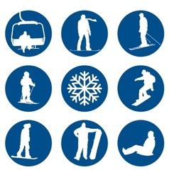 Winter sports designs vector image