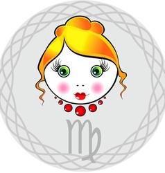 Zodiac signs virgo vector