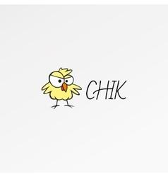 Cartoon logo icon template Chik design nestling vector image