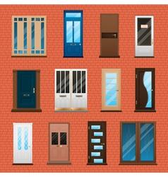 House Doors Set vector image
