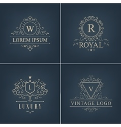 Abstract logotypes icons set luxury logos vector