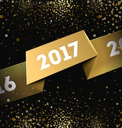 2017 happy new year greeting card vector