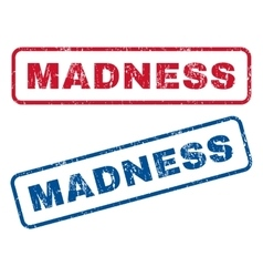 Madness rubber stamps vector