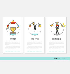 Awards and trophy business brochure template vector