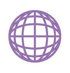 sphere global symbol vector image
