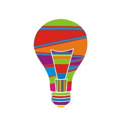 Colorfull bulb vector