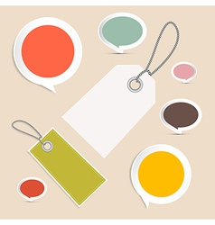 Set of Labels Tags vector image