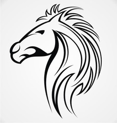 Horse head tattoo design vector