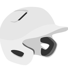 Baseball helmet vector