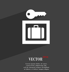 Luggage storage icon symbol flat modern web design vector